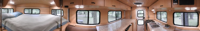 Camper interior panorama, Johnson Lake SRA, NE