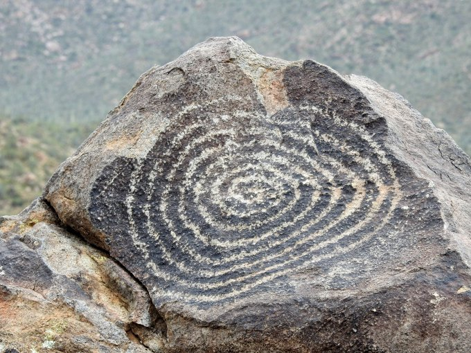 Petroglyph, Signal Hill, West Unit, Saguaro NP, AX