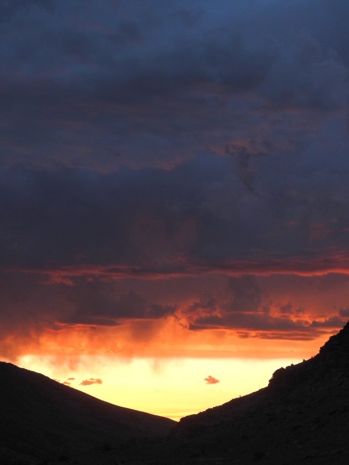 Sunset, Lamoille Cyn, Ruby Mtns, NV