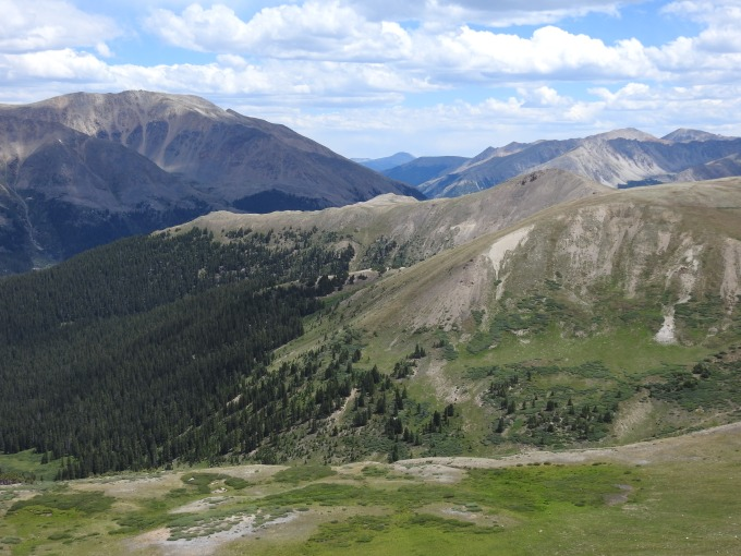View from trail heading SW of Independence Pass, CO