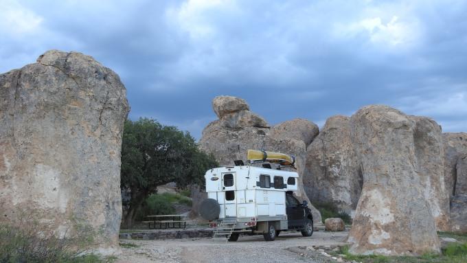 Campsite, City of Rocks SP, NM